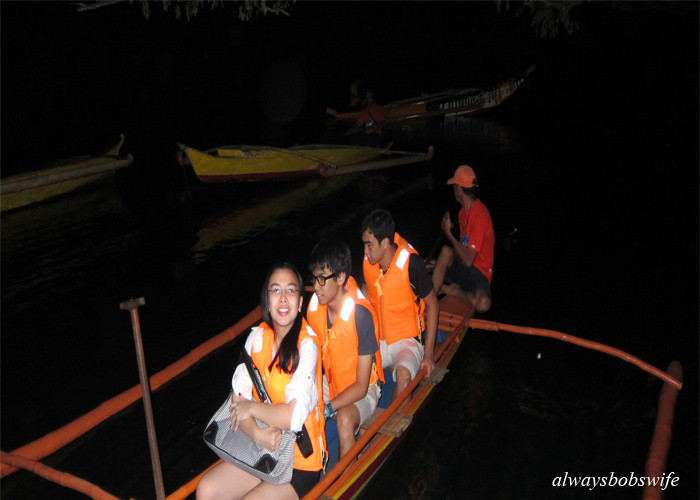 ... a night adventure to see fireflies down the river bordering a penal colony ... what is more fun than that!